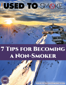 7 Tips for Becoming a Non-Smoker